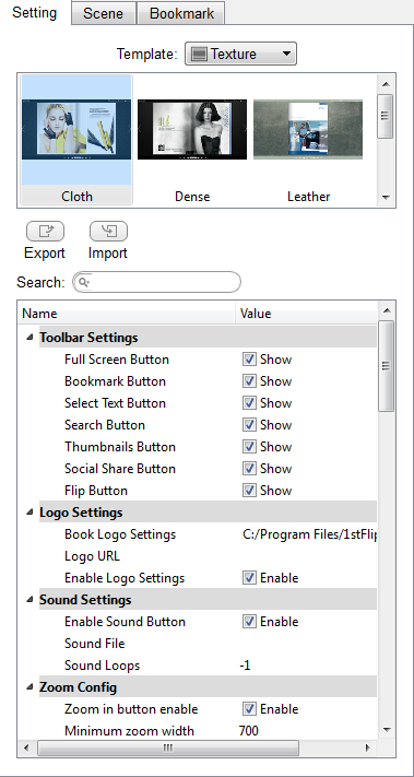 setting flipbook, mac pad converter