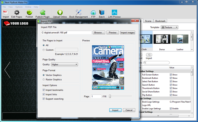 how to convert pdf to flash html5 flipbook on windows with next